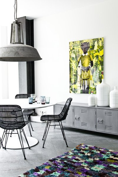 Meuble Tv Industriel Casier Meuble Tv Scandinave/industriel Bois - Gris - Hkliving