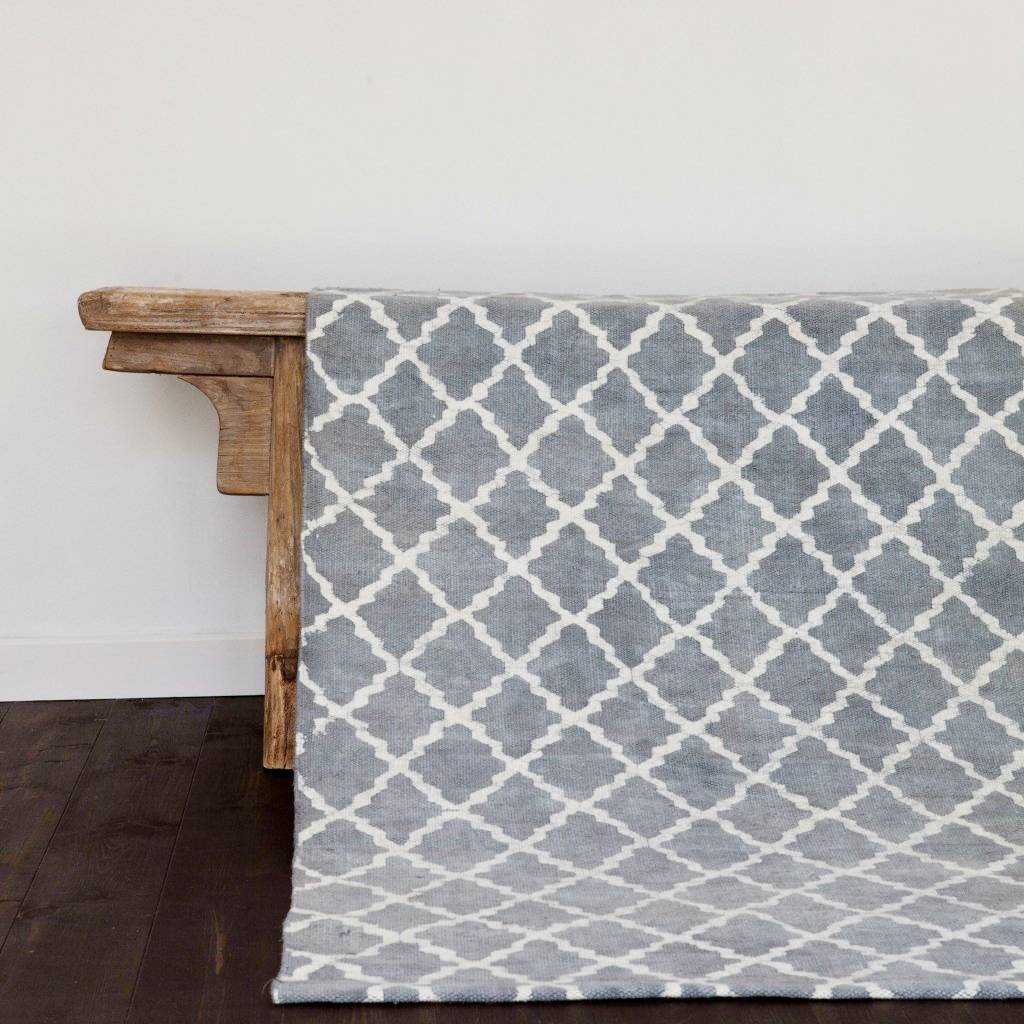 Tapis Salon Style Scandinave Tell Me More Scandinavian Rug In Stonewashed Cotton