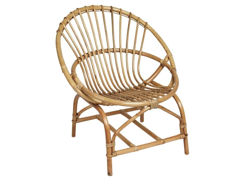Chair Armchair Kubu Natural Rattan Mat Bloomingville