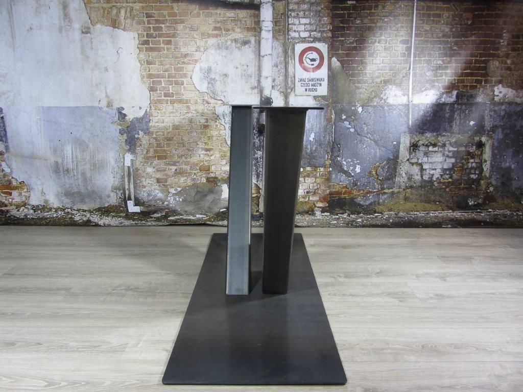 Industrieel Tafel Onderstel : Tafel poot stoere tafel doorleefd hout met stalen poot design in