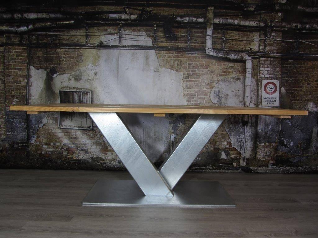 Industrieel Tafel Onderstel : Tafel v poot betontafel met tafelonderstel v tafelpoot industriele
