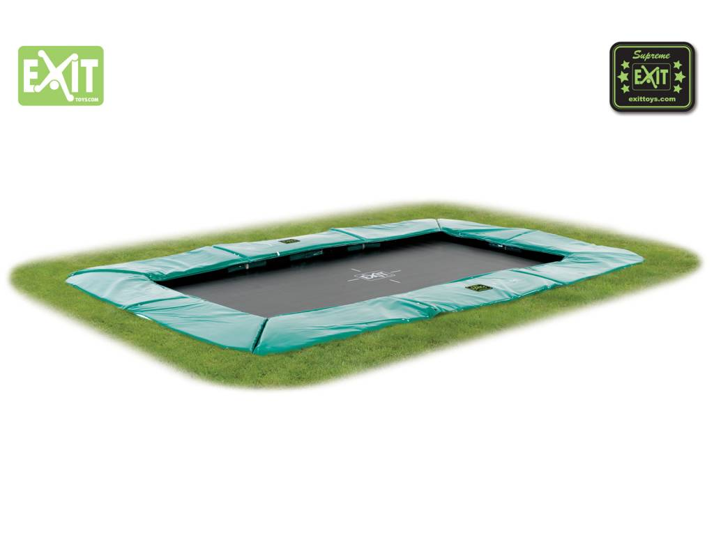 Exit Toys Rechthoekige Trampoline Supreme Ground Level 214x366