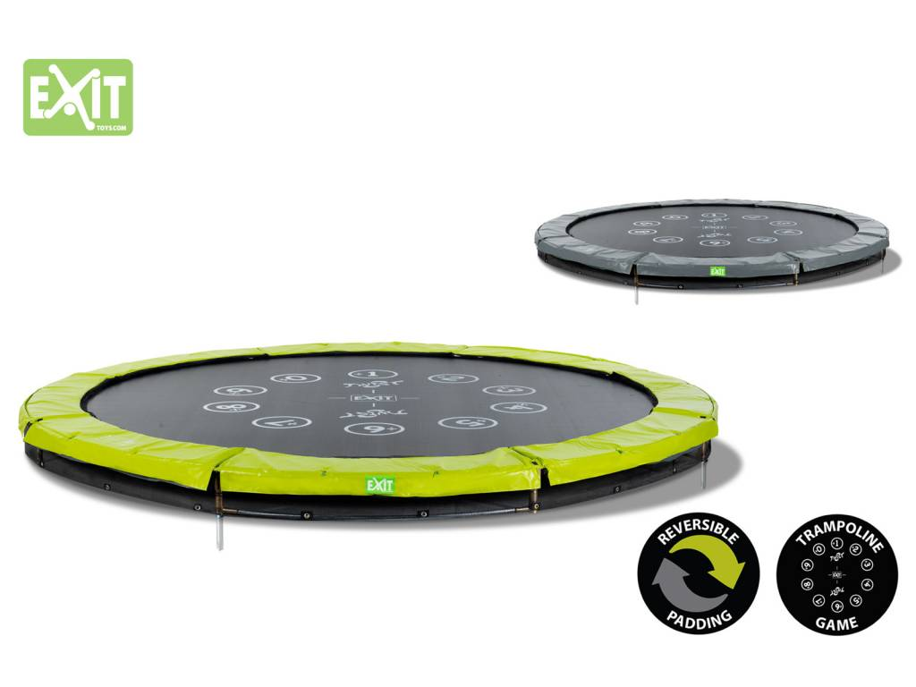 Exit Toys Trampoline Twist Inground 12 Ft Groen Grijs Exit Toys