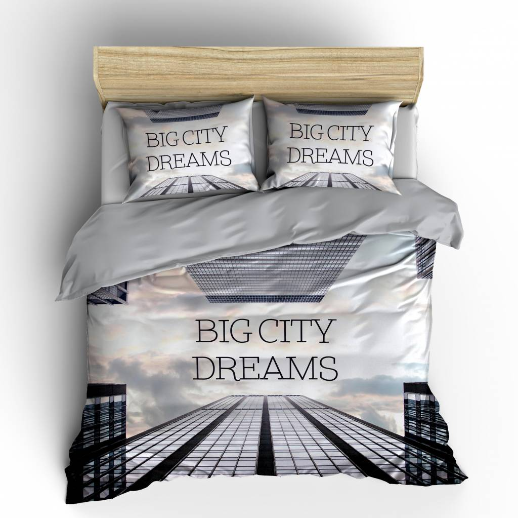 Bettwäsche 240 X 200 Big City Dreams Multi Eu Nightlifeliving