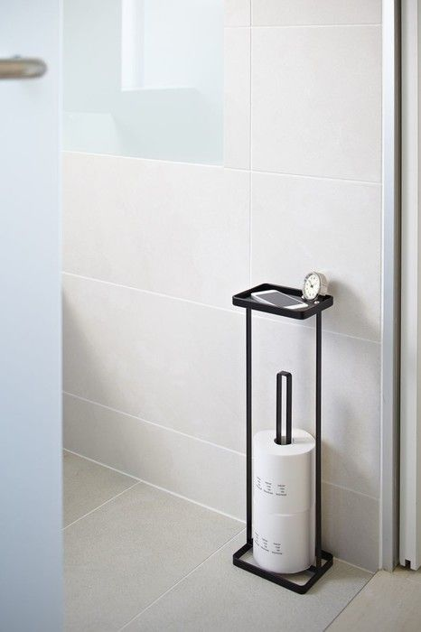 Design Toilettenpapierhalter Toilet Paper Holder 'open Tower' (black) - Yamazaki