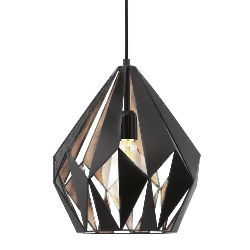 Tafellamp Koperkleur Carlton 1 Hanglamp Zwart-koper - Light Collection