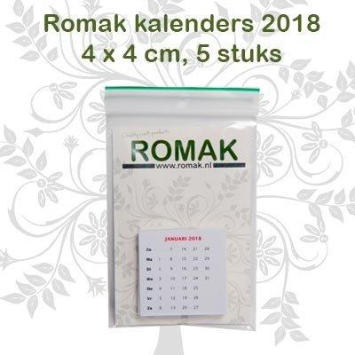 Romak Romak Mini calendar 4x4 cm - Hobbytheek