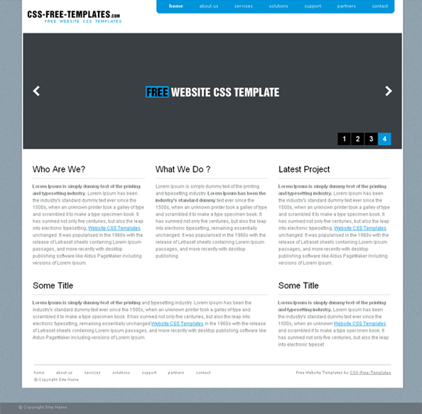 blue website css template in simple style website css templates