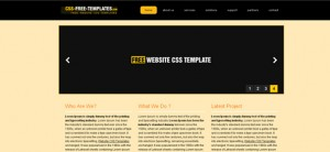 Website CSS Template suitable for Personal Portfolio