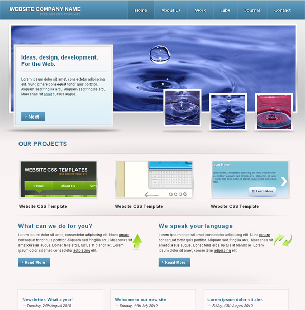 simple website template with jquery slider website css templates
