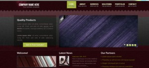 Dark Website CSS Template for Personal Portfolio