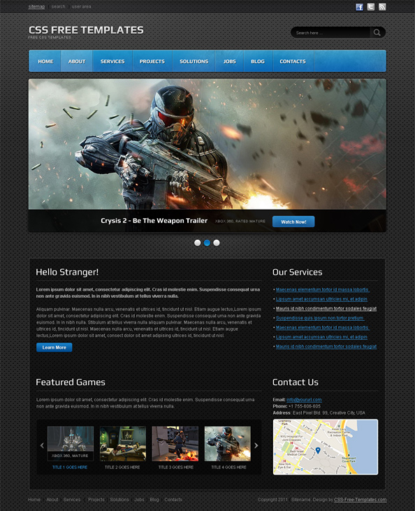 free games templates - Intoanysearch - video game template