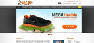 Ecommerce Website CSS Template for Sporting Goods