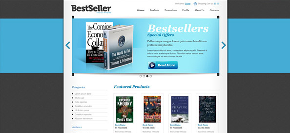 Free Book Store Ecommerce Template Website CSS Templates - Online book template free