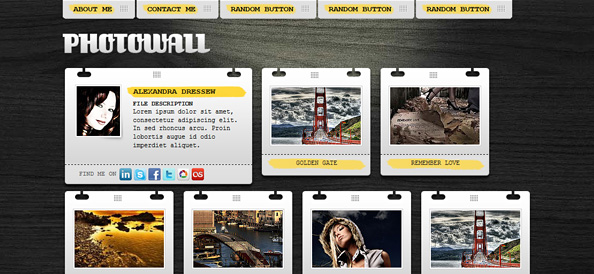 Free Gallery Website CSS Template