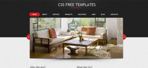 Portfolio Website CSS Template in Black and Red Color Scheme