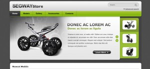 Segway Store - Ecommerce Website CSS Template
