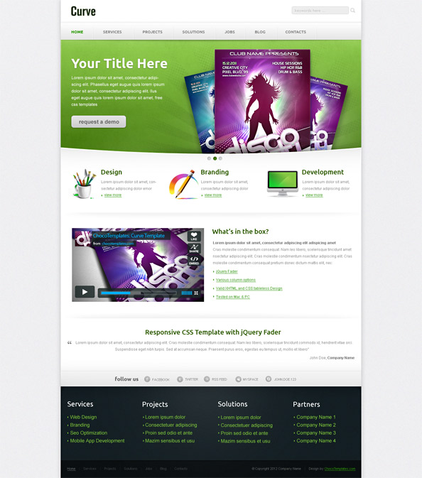 Free Responsive Template Preview Big