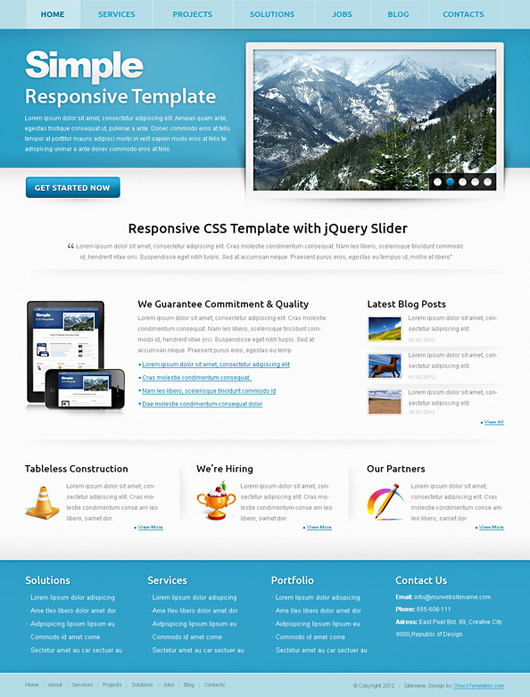 Free Responsive Template Simple Preview Big