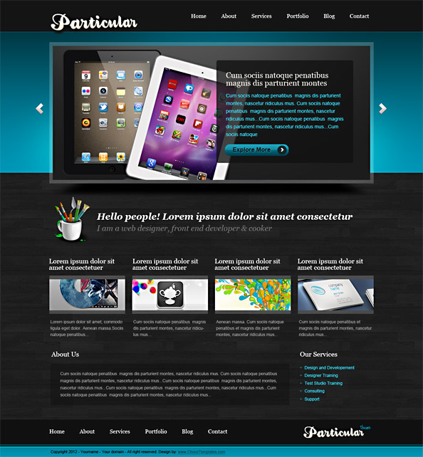 Free Website CSS Template - Particular