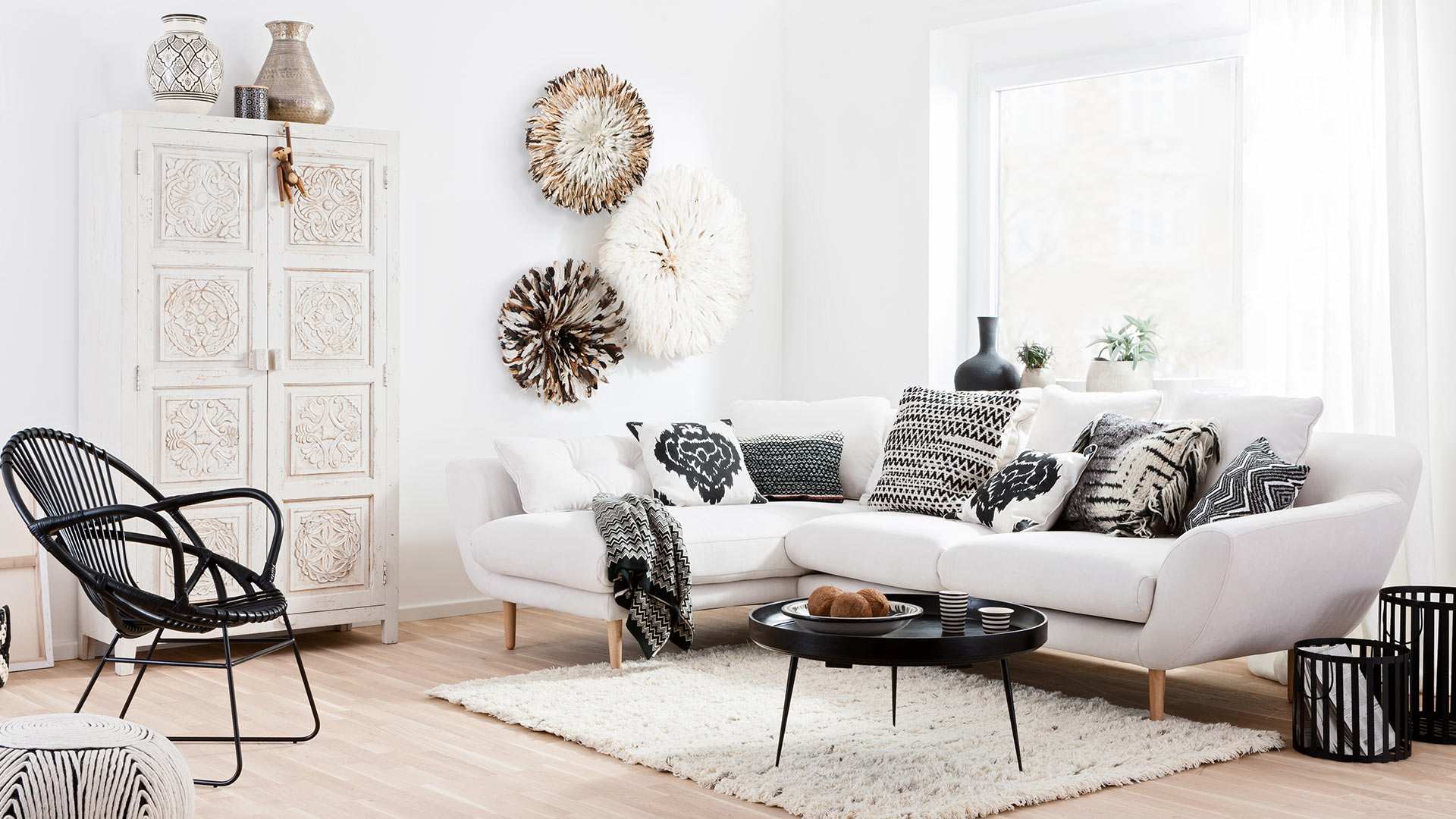 Couchtisch Ethno Ethno Black & White | Shop The Look ▷westwingnow