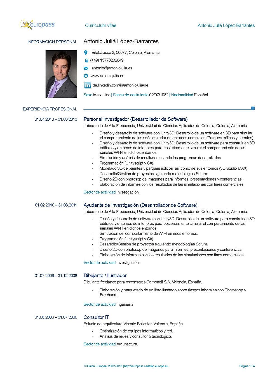 cv en espanol pdf