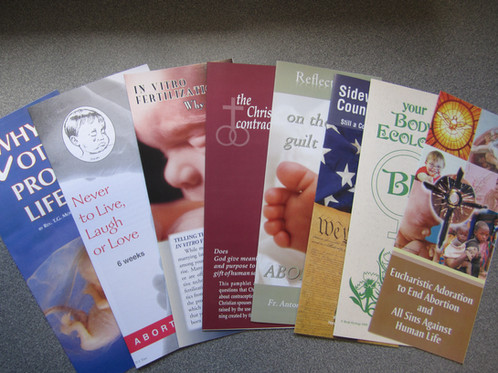 ENGLISH - Prolife Pamphlet Sample Packet #0701 New Hope - pamphlet sample