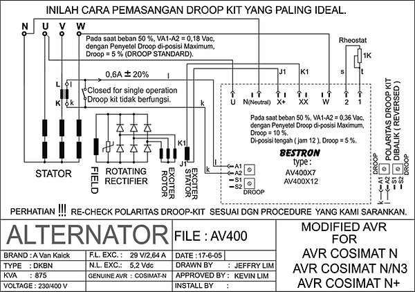 wiring diagram panel synchron