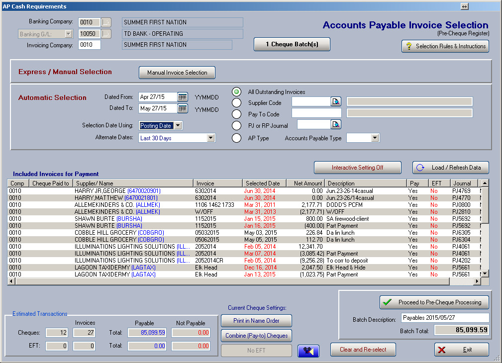 First Nations Accounts Payable Xyntax Systems