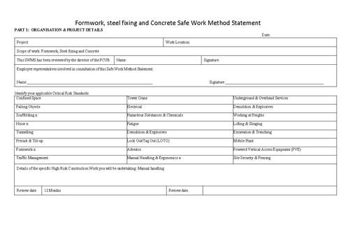 Method Statement Format - Fiveoutsiders - method statement format