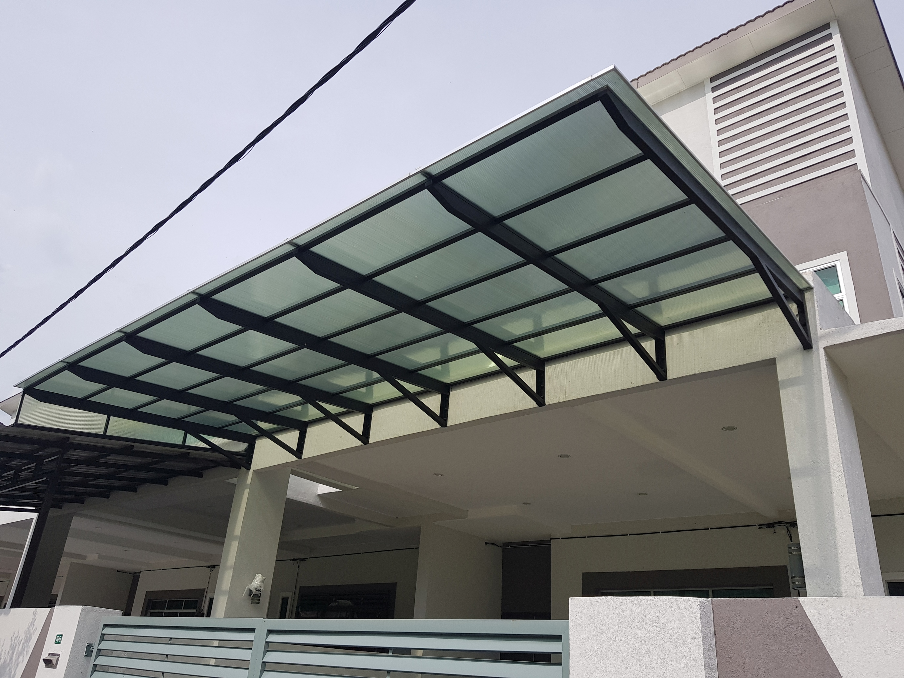 Model Awning Rumah Lexan Sheet Kp Awning The Skylights Awning Specialist
