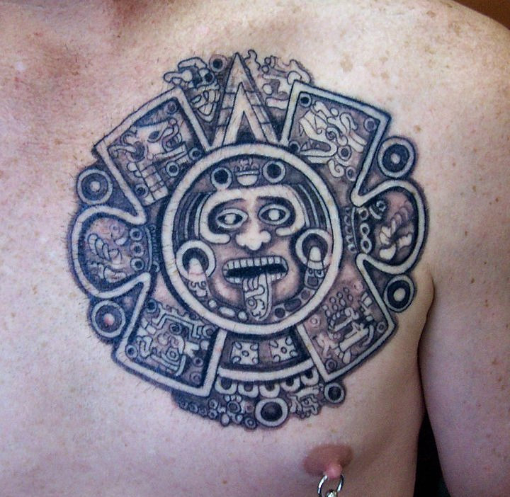 Aztec Mexican Tattoos Free Tattoo Designs Aztec Calendar Tattoo New Calendar Template Site