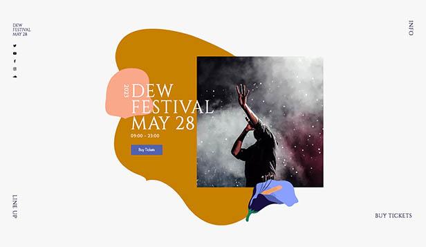Events Website Templates Wix