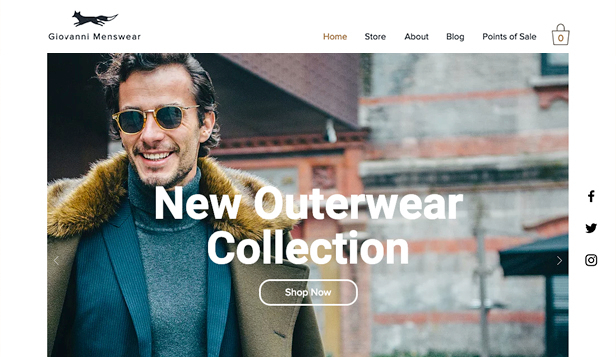 Fashion  Clothing Website Templates Online Store Wix