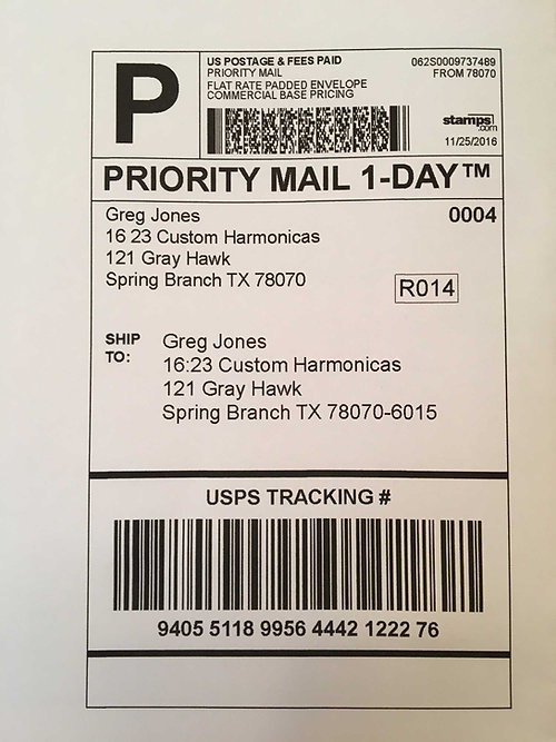 Prepaid Shipping Label Emailed