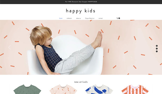 Kids  Babies Website Templates Online Store Wix
