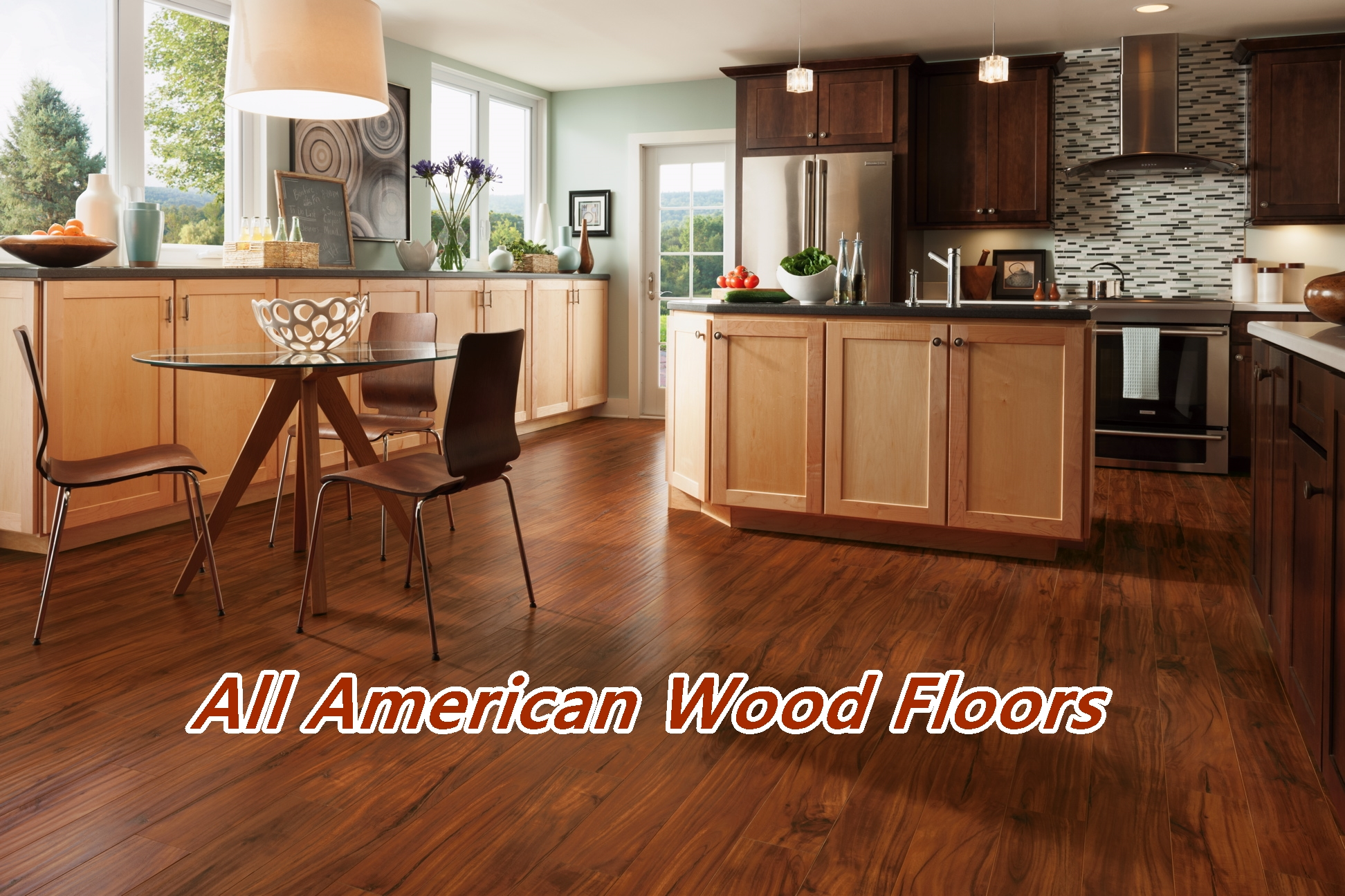 hardwood kitchen wood floors All American Wood Floors Orlando Winter Park Melbourne Hardwood Installation