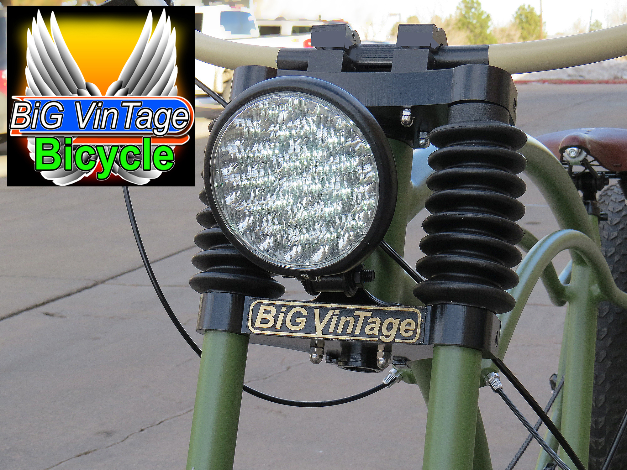 Big W Bike Light Official Big Vintage Bicycle Huge Fat Tire Beach