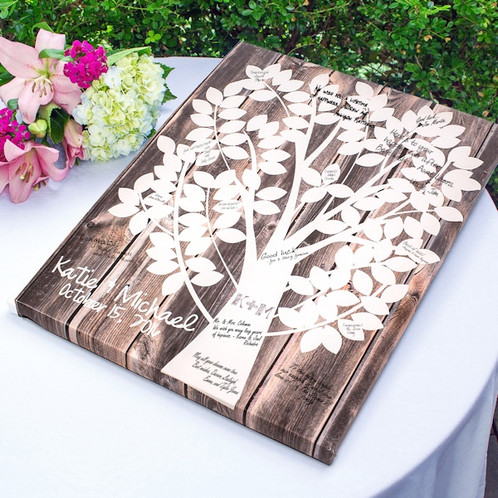 Our Family Tree Gallery Wrapped Canvas Guest Book Summerstar - how to make a family tree book