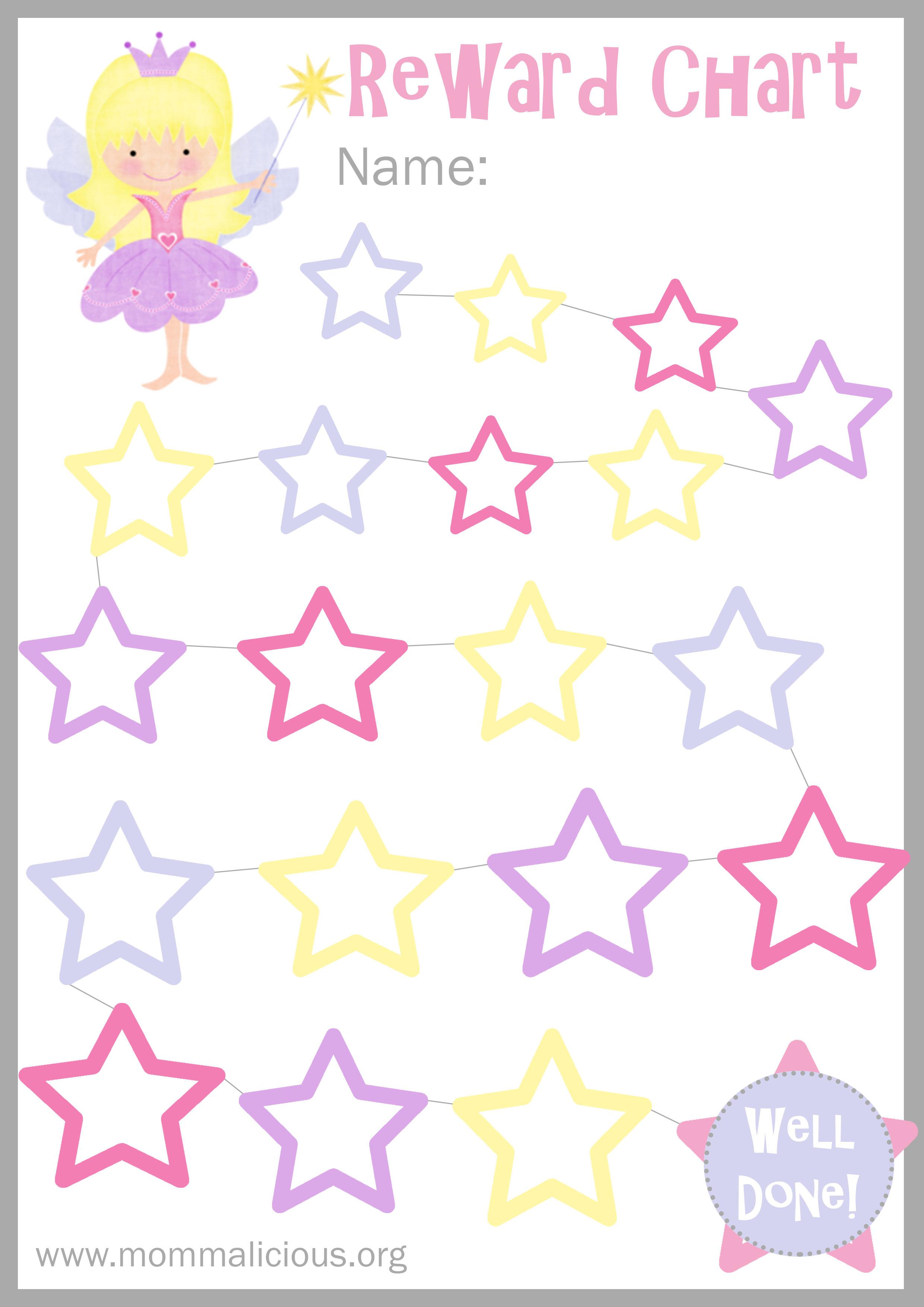 reward sticker chart for toddlers