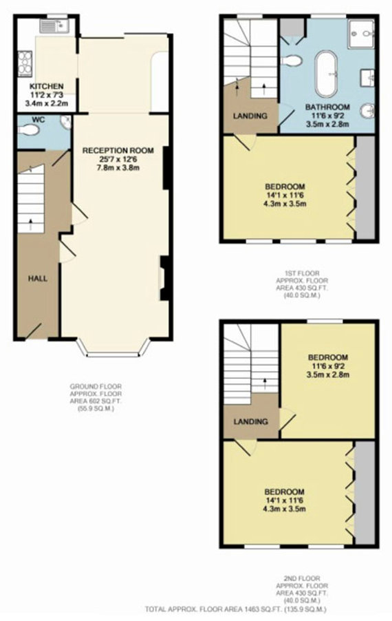 Image result for 3 bed house floor plan rear extension Extension - office seating plan template