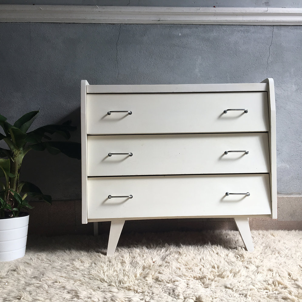 Commode Blanche Vintage Commode Vintage Pied Compas Blanche | Collectionit