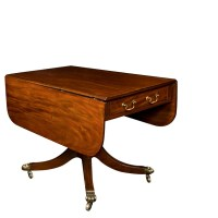 Mill House Antiques   Mahogany Drop Leaf Sofa Table