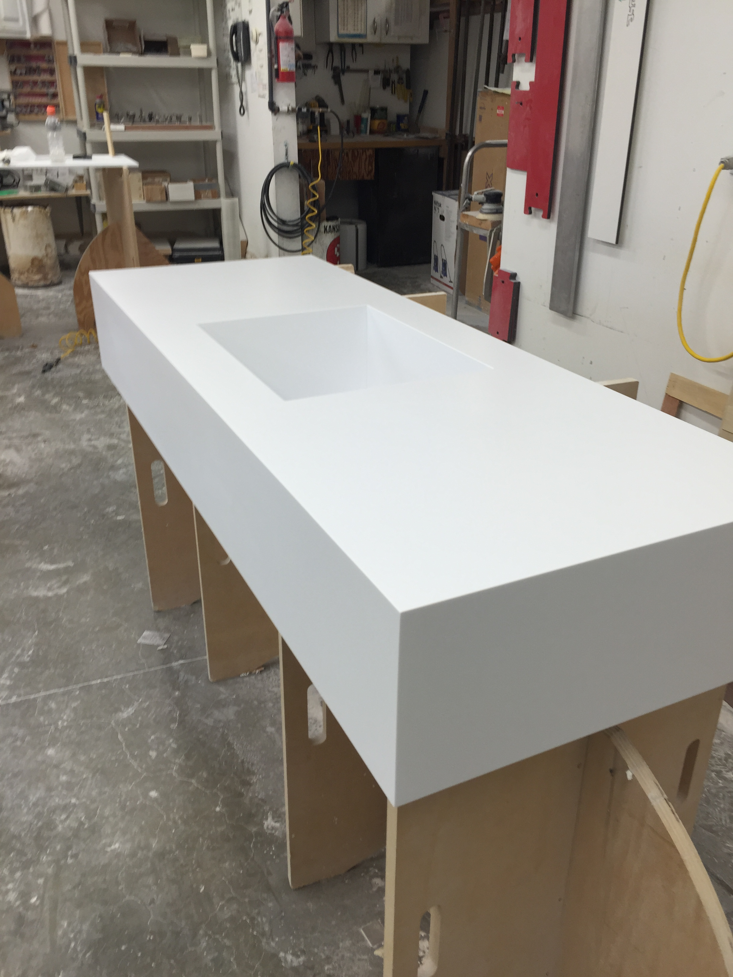 Corian Countertops With Integrated Sink The Seamless Look Of Custom Corian Countertops By