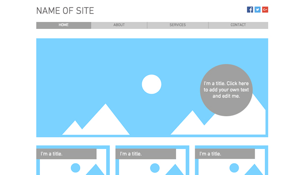 Blank Website Templates For Creative Minds WIX - how to create a website template