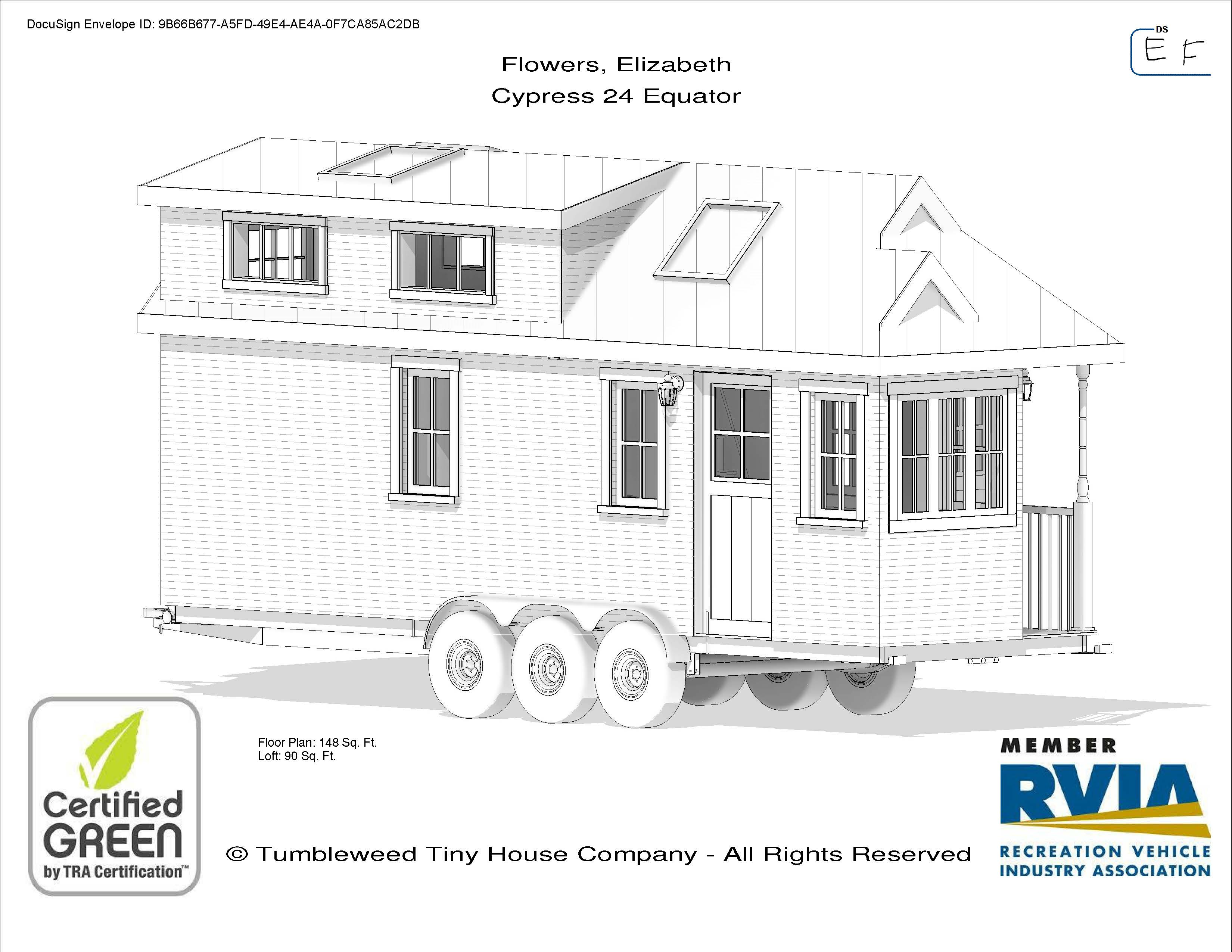 Our Tiny House Blueprints With Loft In Bare Feet