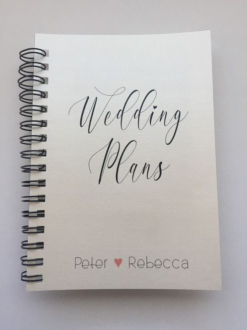 A4 Size - Wedding Plans on Shimmery Ivory