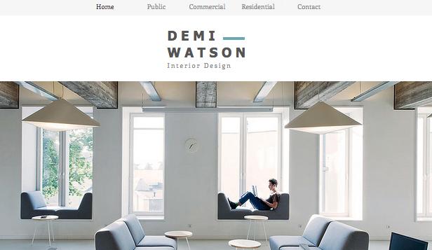 Designer Website Templates Design Wix - interior design web template