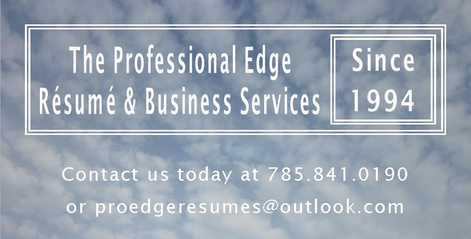 The Professional Edge Resume  Business Services - Kansas and USA