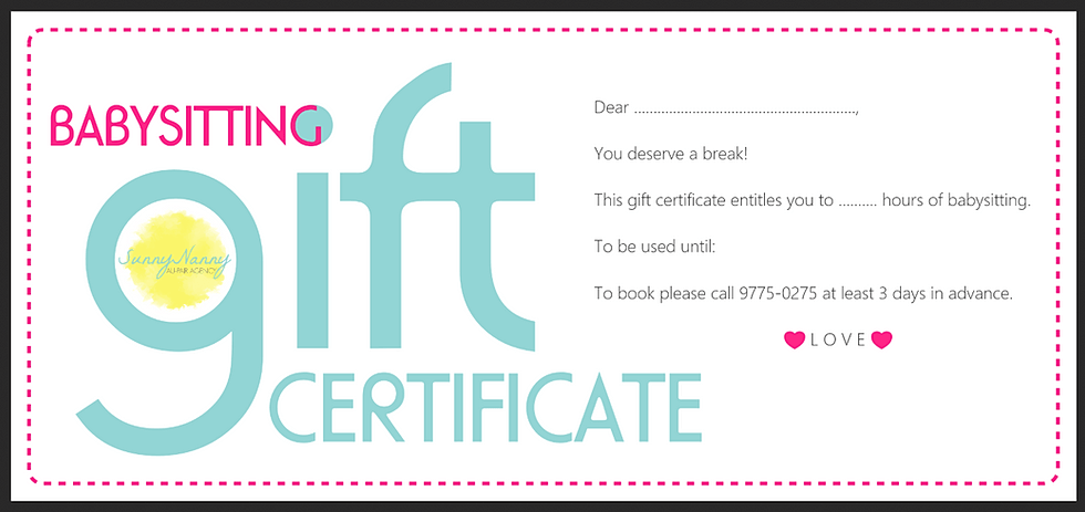 Gift certificate template free for babysitting image collections gift certificate template free babysitting cv european format bg yadclub Choice Image